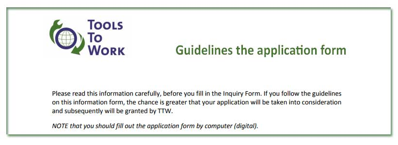 Guidelines the application forms